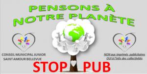 STOP PUB du Conseil Municipal Junior.
