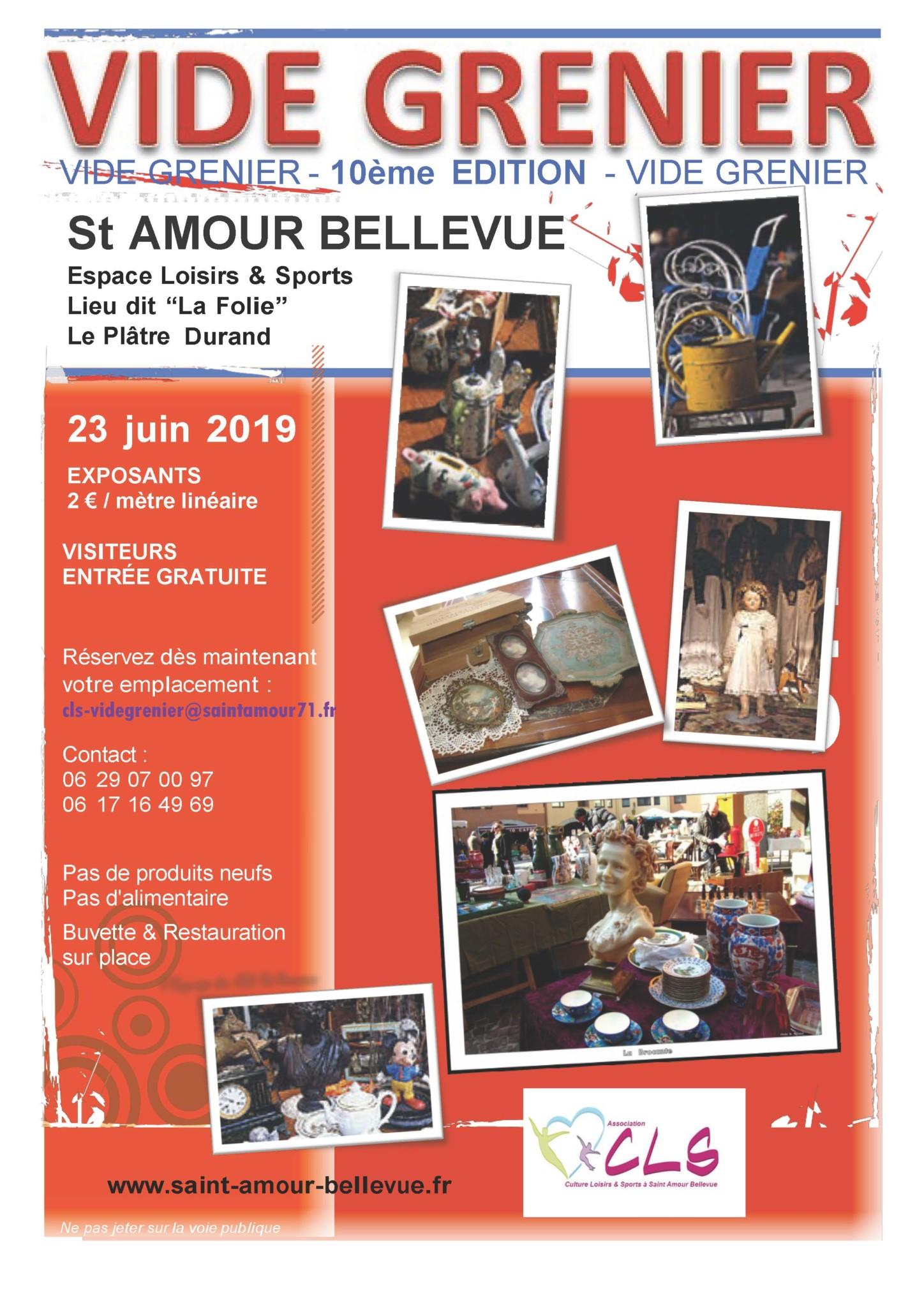 Vide Greniers organisé par CLS association culture , loisirs et sports à Saint- Amour
