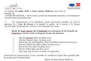 avis du maire Routes Barres à Saint Amour le 13 juillet 2019 @ le platre durant | Saint-Amour-Bellevue | Bourgogne-Franche-Comté | France